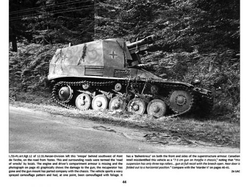 Panzerwrecks 8: Normandy 1 - WW2 Panzer book. Wespe