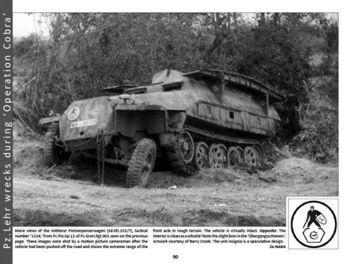 Panzerwrecks 8: Normandy 1 - WW2 Panzer book. Sd.Kfz 251