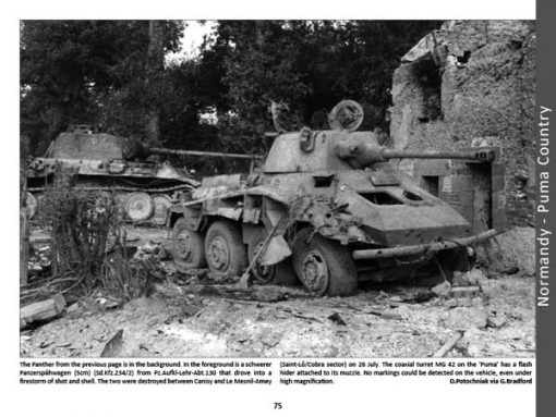 Panzerwrecks 11: Normandy 2 - WW2 Normandy Panzer book. Sd.Kfz 234/2 Puma
