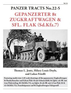 Panzer Tracts No. 22-5 Mittlerer Zugkraftwagen - Sd.Kfz 7 WW2 military vehicle book