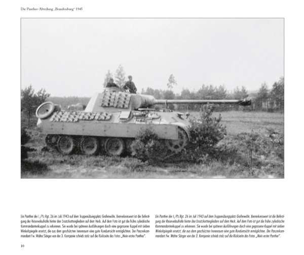 the panther battalion brandenburg by ockert urbanke panzerwrecks. Black Bedroom Furniture Sets. Home Design Ideas