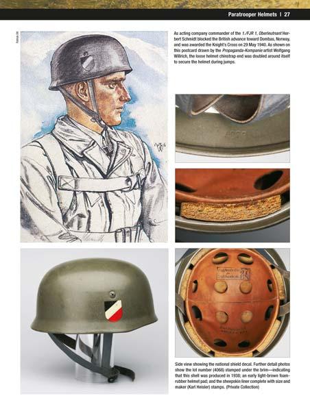 Helmets Equipment and Weapons German Paratroopers Vol.II